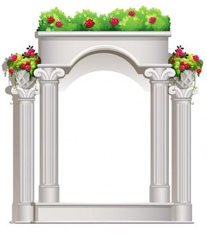 Uma varanda com plantas com flores