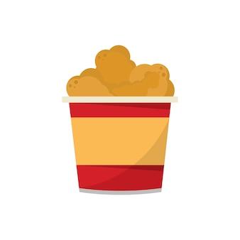 Uma xícara de ilustração gráfica de frangos fritos
