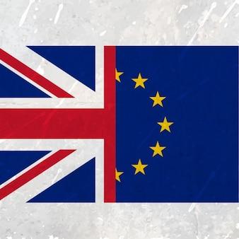 União europeia e bandeira de reino unido
