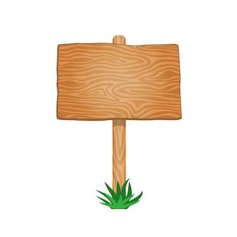 Única tabuleta de madeira vazia