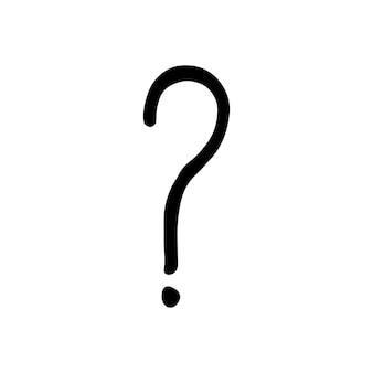 Único elemento do ponto de interrogação no conjunto de negócios do doodle. mão-extraídas ilustração vetorial para cartões, cartazes, adesivos e design profissional.
