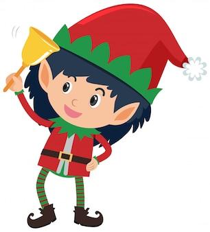 Único personagem de elfo em branco
