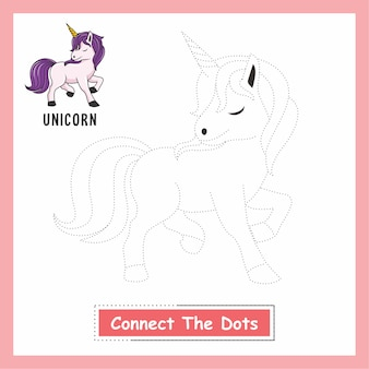 Unicorn drawing connect the dots animals