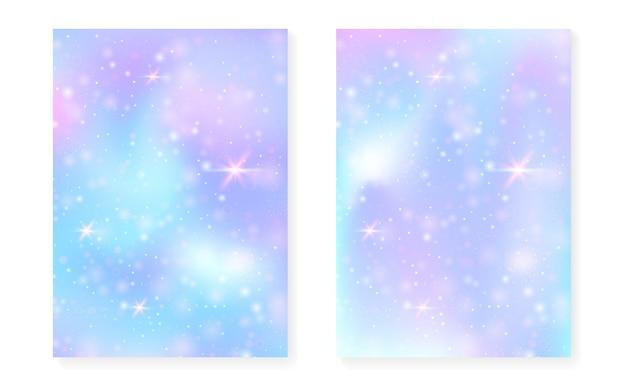 Unicórnio com gradiente mágico kawaii.