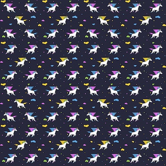 Unicórnios mágicos, padrão uniforme