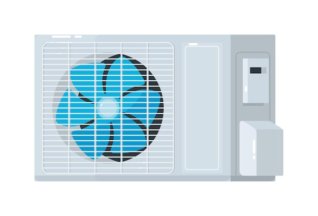 Unidade externa de sistema de ar condicionado split