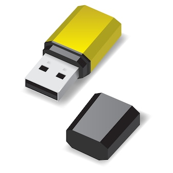 Unidade flash usb.