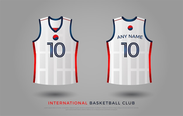 Uniforme de design de t-shirt de basquete