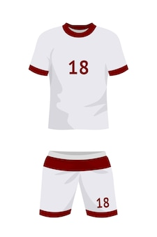 Uniforme de futebol isolado no branco