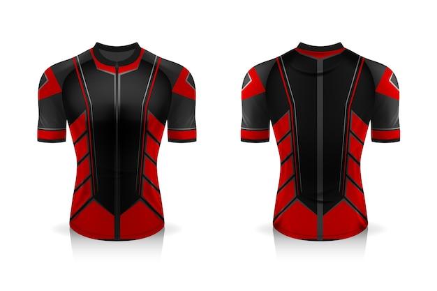 Uniforme de gola redonda sport t shirt para vestuário de bicicleta.