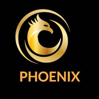 Unique phoenix logo design vector