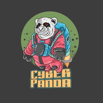 Universo do panda do astronauta