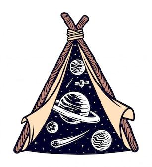 Universo na tenda