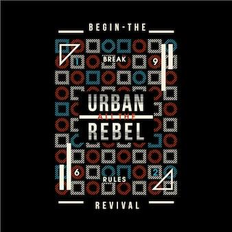 Urban rebel doodles tipografia gráfica