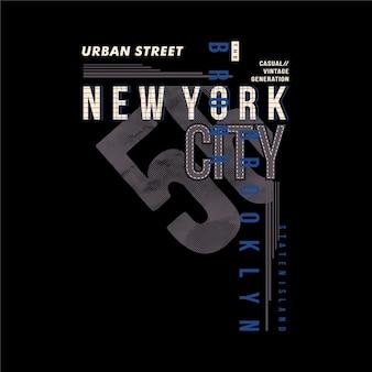 Urban street brooklyn nyc cultura gráfica tipografia camiseta desenho vetorial