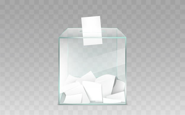 Urnas de vidro com cédulas