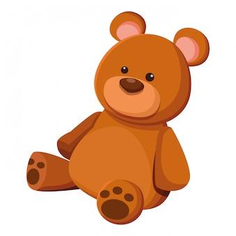 Ursinho de pelúcia brinquedo dos desenhos animados