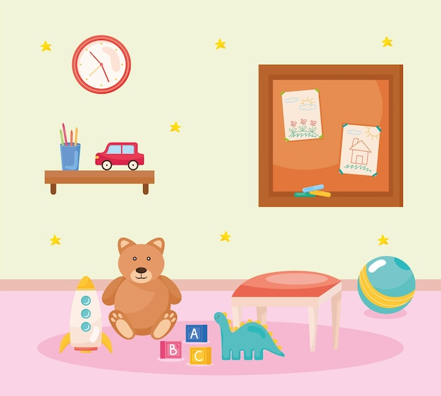 Ursinho de pelúcia e brinquedos
