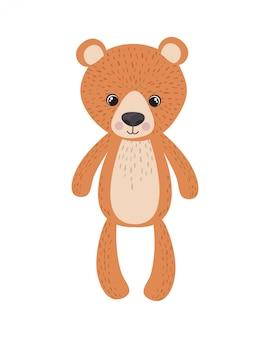 Ursinho de pelúcia para decoração de quarto de bebê
