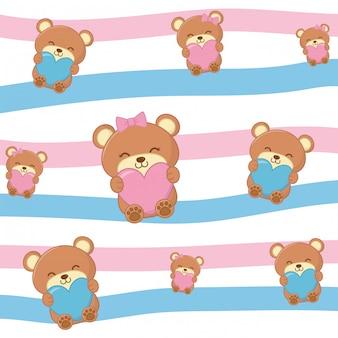 Ursinhos de brinquedo com corações