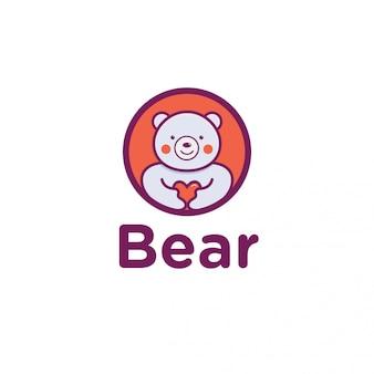 Urso amor logotipo