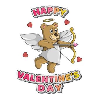 Urso arqueiro dia dos namorados