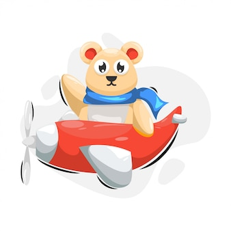Urso bonito com desenhos animados