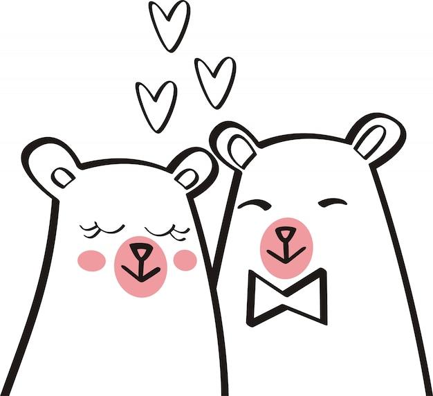Urso bonito ilustração vector para crianças