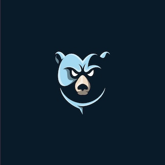 Urso cabeça ilustração design