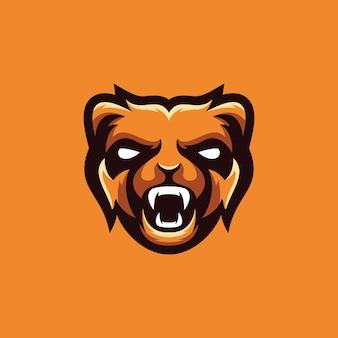 Urso coleção de design de logotipo