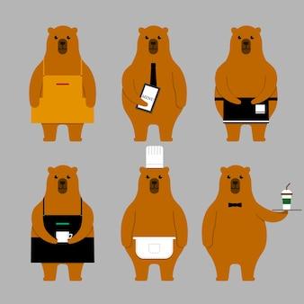Urso conjunto de caracteres