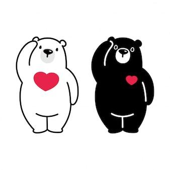 Urso coração polar