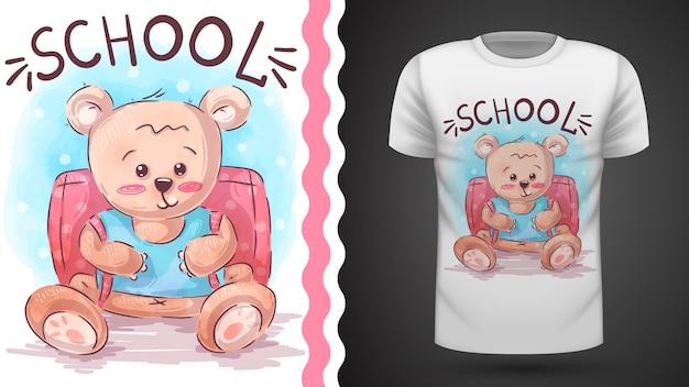 Urso da escola - ideia para imprimir camiseta