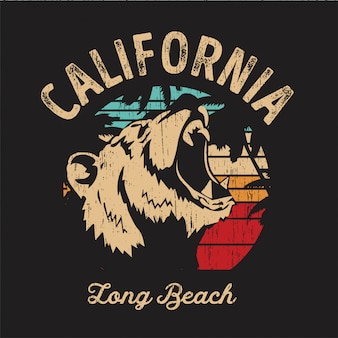 Urso da praia de califórnia