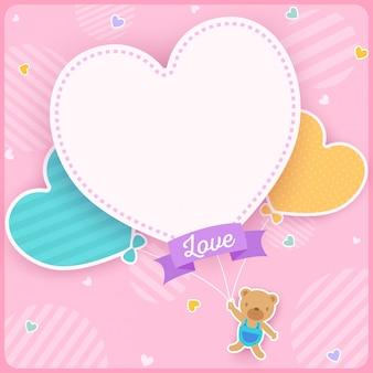 Urso de balão de coração