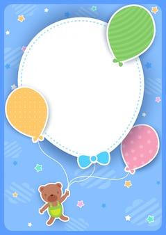 Urso de balão vertical