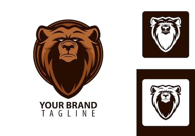 Urso de cabeça com logotipo