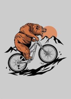 Urso de mountain bike