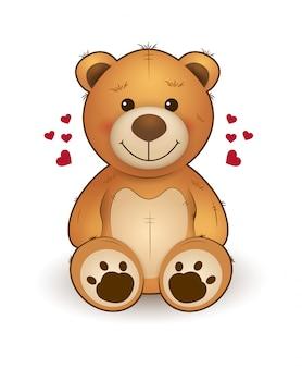 Urso de pelúcia dos desenhos animados