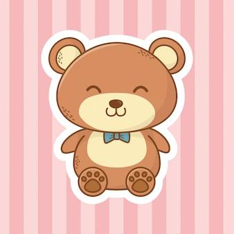 Urso de pelúcia fofo dos desenhos animados
