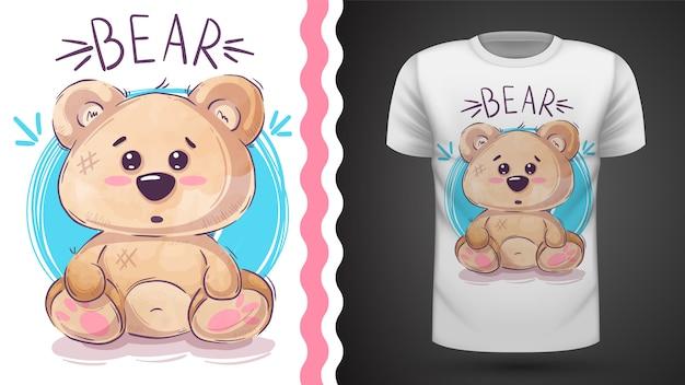 Urso de pelúcia fofo - idéia para impressão t-shirt