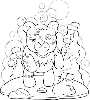 Urso de pelúcia frankenstein