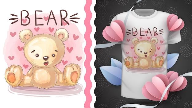 Urso de pelúcia - ideia para imprimir t-shirt