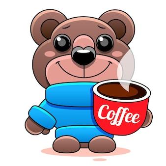 Urso de pelúcia marrom básico em cores sólidas