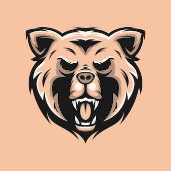 Urso design de logotipo