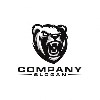 Urso design de logotipo
