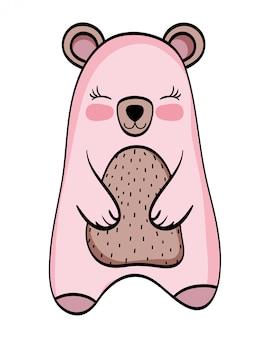 Urso dos desenhos animados de animais selvagens