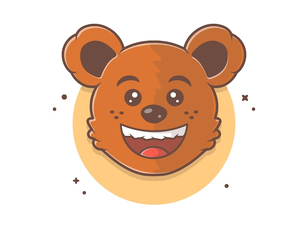 Urso e-sport logotipo, conceito de ícone de animais