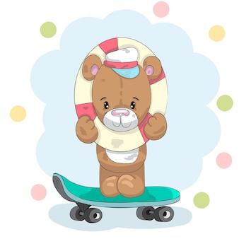 Urso em um skate