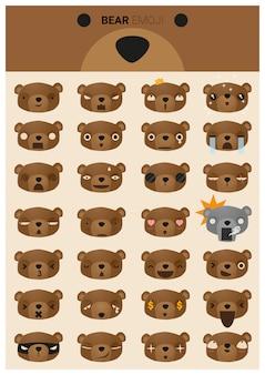 Urso emoji ícones